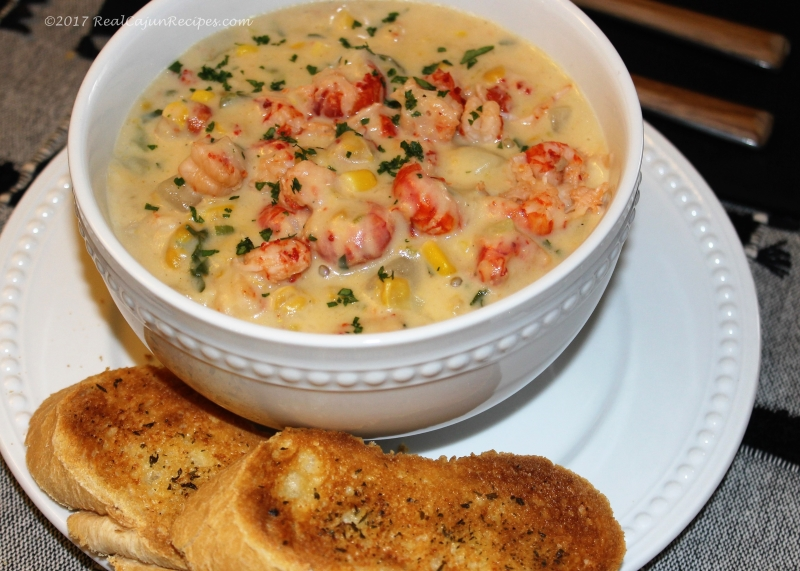 CORN AND CRAWFISH CHOWDER SOUP