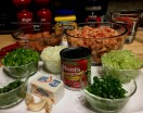 Crawfish and Sausage Etoufee Ingredients