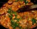 Etouffee Parsley Green Onions Pot