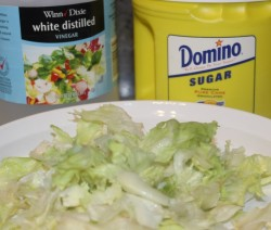 RCR Lettuce Sugar Vinegar Salad