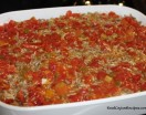 Cabbage, Meat and Rice Casserole -  Oven Baked