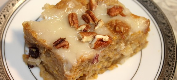 RCR Bread Pudding Sliced