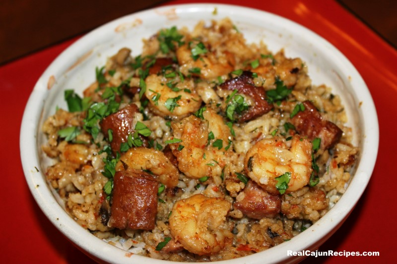 Easy chicken sausage shrimp jambalaya recipe