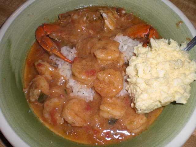 Crab and Shrimp Etouffee