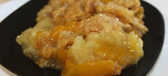 Peach and Pineapple Cobbler