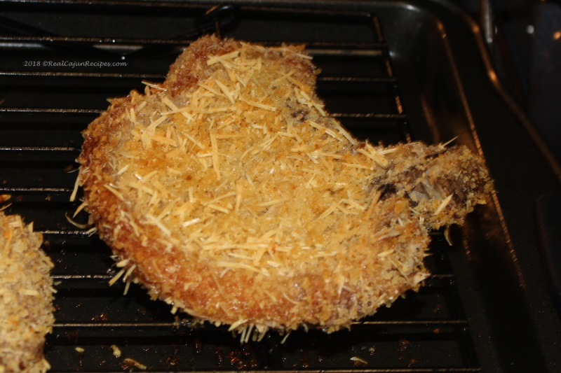 Baked Pork Chop Parmesan Crusted