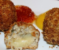 Boudin Balls Stuffed w-Pepper Jack Cheese