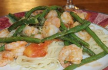 RCR Shrimp,  Tomato,  String Bean Pasta