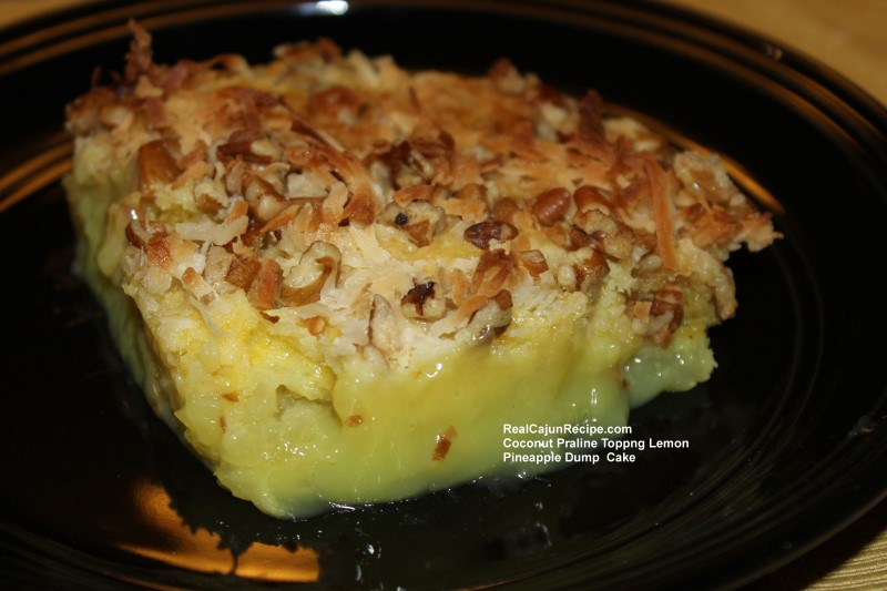 Coconut Praline Lemon Pineapple Cake Dump Cake