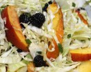 Peach-Berry-Cabbage Slaw